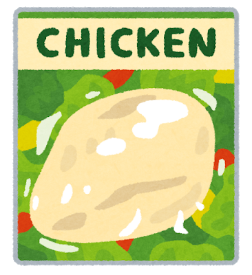 Food salad chicken